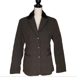 Henry Cotton's Quilted Barn Jacket Fur Collar